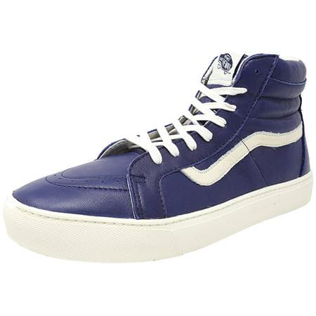 Vans - Vans Men s Sk8-Hi Cup Ca Leather Patriot Blue   Whisper White  High-Top Skateboarding Shoe - 11M - Walmart.com 4dc223ecd