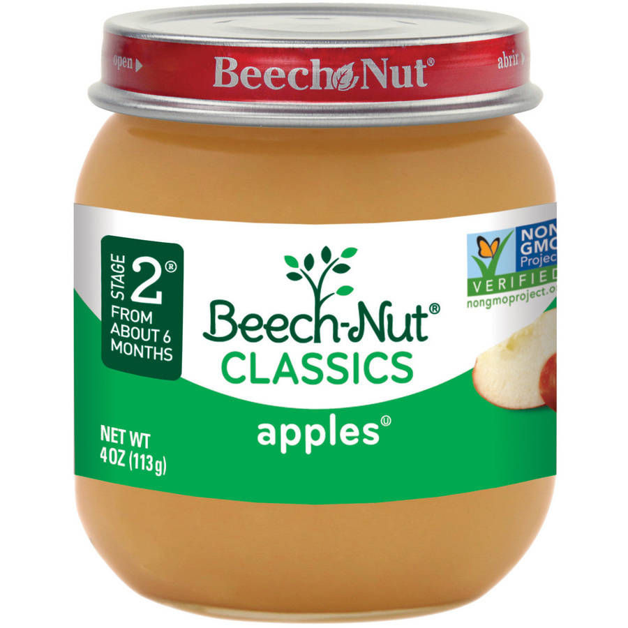 Beech-Nut Classics Stage 2 Apples Baby Food, 4 oz, (Pack of 10)