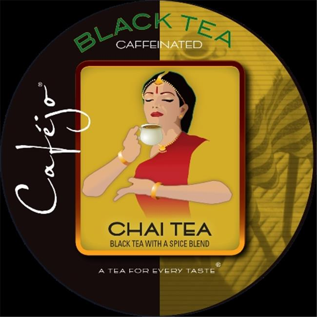 Cafejo K-CJT-CT-1-50 Chai Tea K-Cups for Keurig Brewers