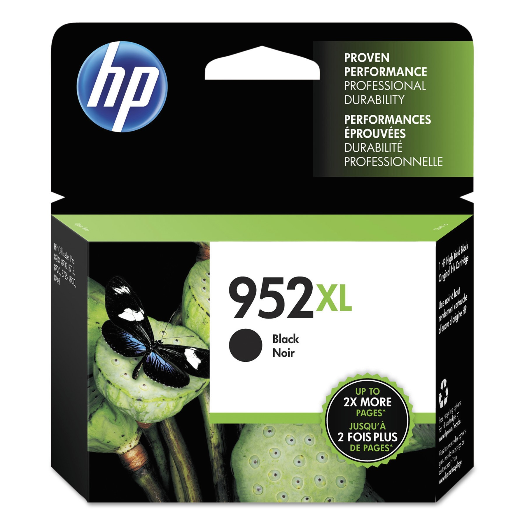 Hp 952XL Black High Yield Original Ink Cartridge (F6U19AN)