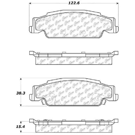 Go-Parts » 2005-2008 Pontiac Grand Prix Rear Disc Brake Pad Set for Pontiac Grand Prix