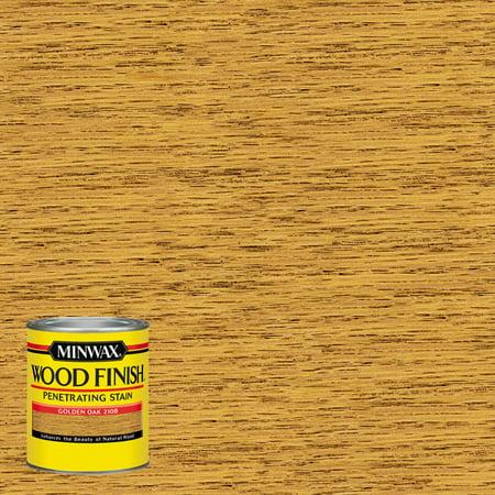 Minwax Wood Finish Penetrating Stain, Golden Oak, Half-Pint Antique Gold Finish Wood
