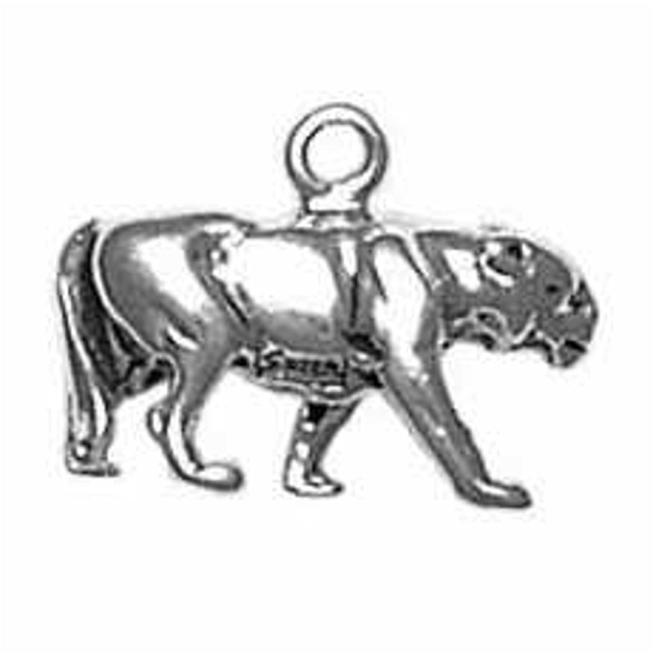 Jaguar Cougar 925 Sterling Silver Panther Animal Pendant
