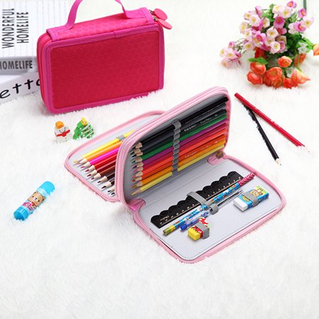 36Holes 2 Layers Makeup Storage Bag Art Pen Pencil Case Box Students Stationary Zipper Storage Bag School Season Discount