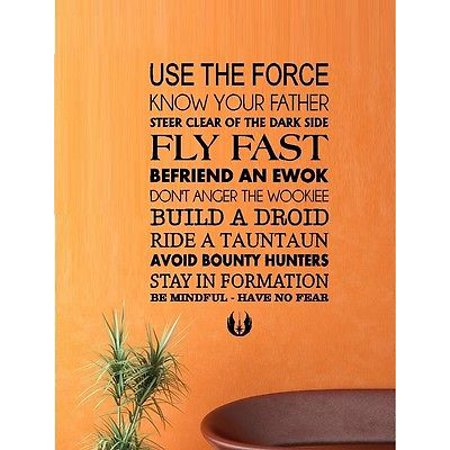 Use the Force ~ Star Wars  ~ Wall Decal: TV, Movies & Music 13