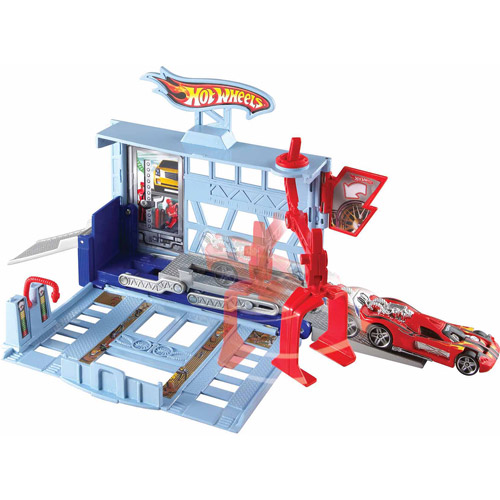 Hot Wheels City Power Lift Garage Play Set