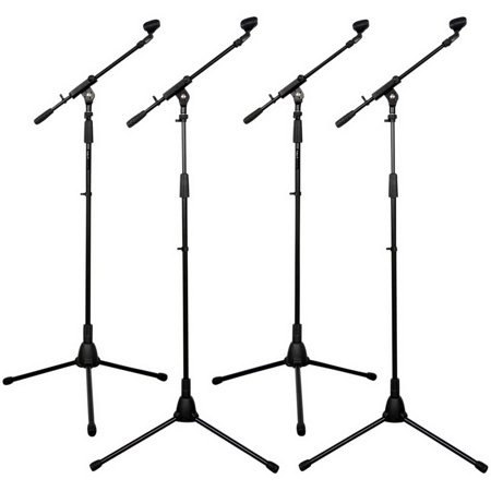 Talent Tripod Mic Stand with Telescopic Boom 4-Pack ()