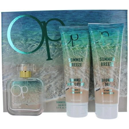 Breeze Outfit - OP Summer Breeze Perfume by Ocean Pacific, 3 Piece Gift Set for Women