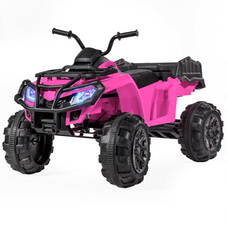 12V Battery Powered Kids Ride-On ATV Quad Monster W/MP3 (L) --PINK