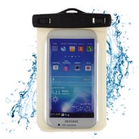 """Waterproof Case Smartphone Dry Pouch (Black) w/ Neck Lanyard - Compatible w/ iPhone XR/XS/XS Max/X/8+ Galaxy S10+/S9+ Note 9/8 Pixel 3 XL Phones up to 6.5"""" Great for Swim Pool Beach Bath Travel"""