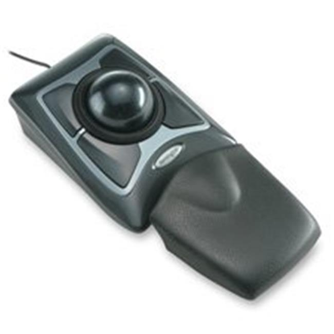 Expert Mouse- USB-PS-2 Compatible- 6in.x5in.x1-.75in.- Black-Silver