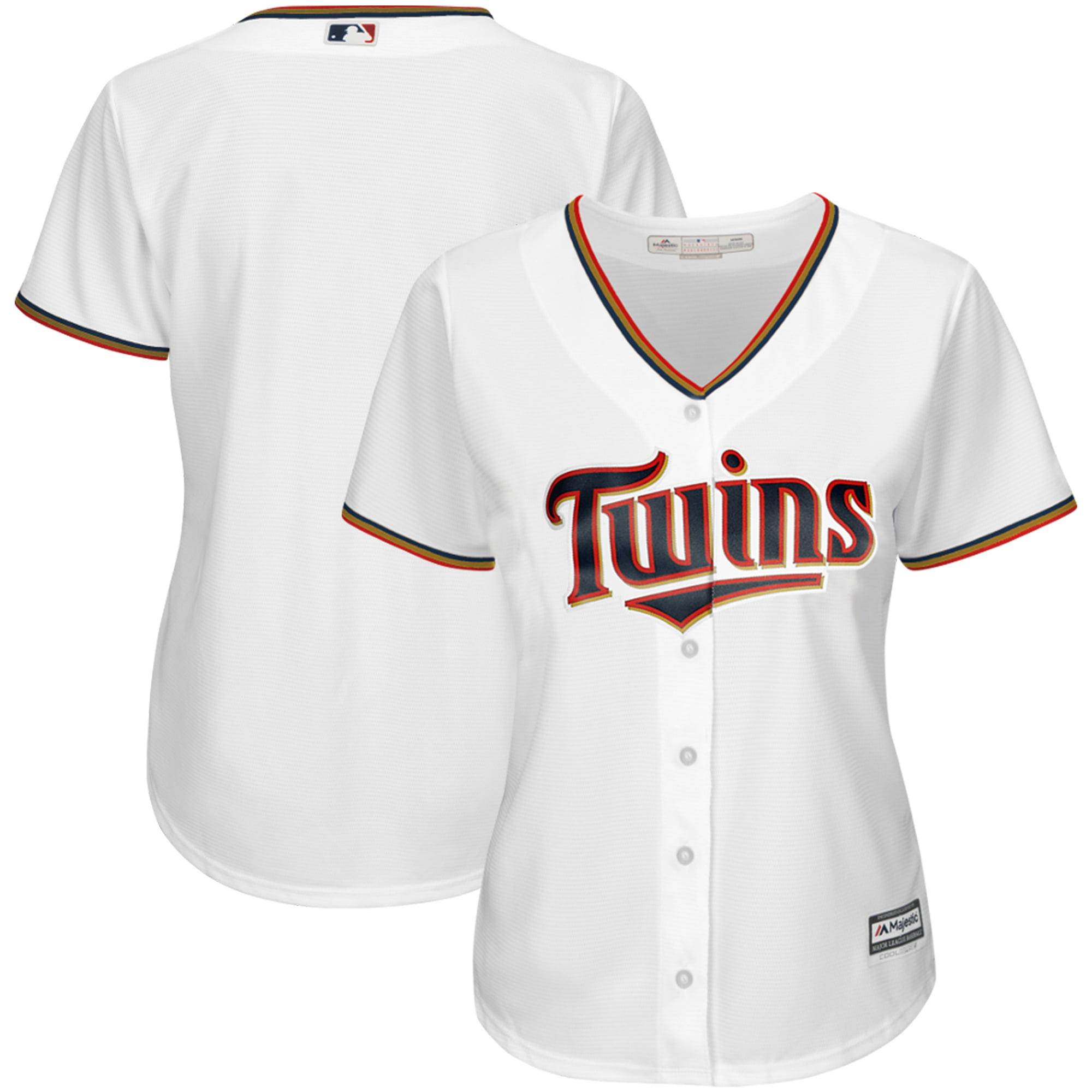 Minnesota Twins Majestic Women's Cool Base Jersey White by MAJESTIC LSG
