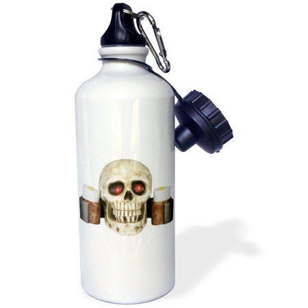 3dRose Halloween Skull Candelabra, Sports Water Bottle, 21oz - Skull Candelabra