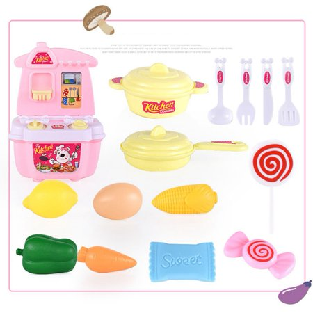 Kitchen Wares Toys for 1-3 Years Old Children to Play Game of Make-Believe  Cooking Utensils Toys 21-Piece Set