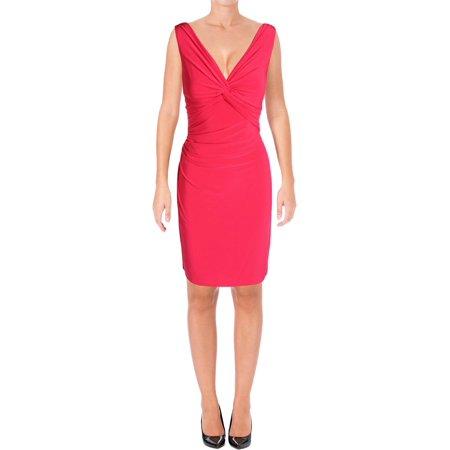 Lauren Ralph Lauren Womens Ferdette Jersey A-line Party Dress