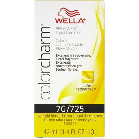 Wella Color Charm Liquid Haircolor 725/7g Sunlight Blonde Brown, 1.4 oz