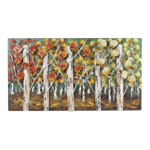 "Sterling Industries 129-1107 20"" x 37"" Metal Art - Autumn Birch"