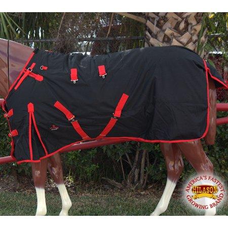 HILASON 1200D WATERPROOF TURNOUT HORSE WINTER CROSS SURCINGLE BLANKET BLACK