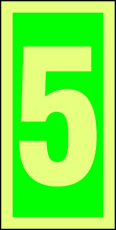 ACCUFORM Number Sign,6 x 3In,GRN Glow WHT,5,ENG, MLMR305GE by ACCUFORM