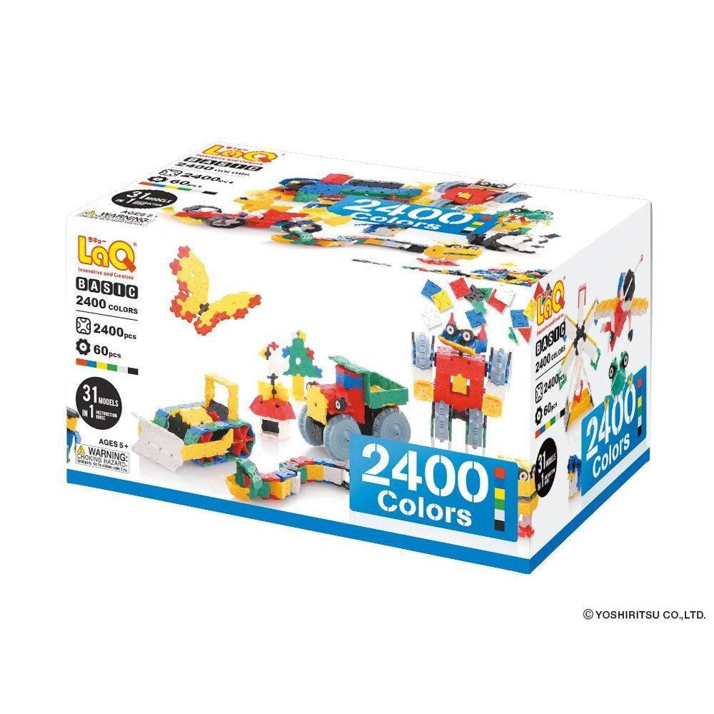 LaQ Basic 2400 Colors Model Building Kit by LaQ