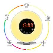Wake Up Light Alarm Clock, Digital Alarm Clock with Colored Sunrise Simulation..