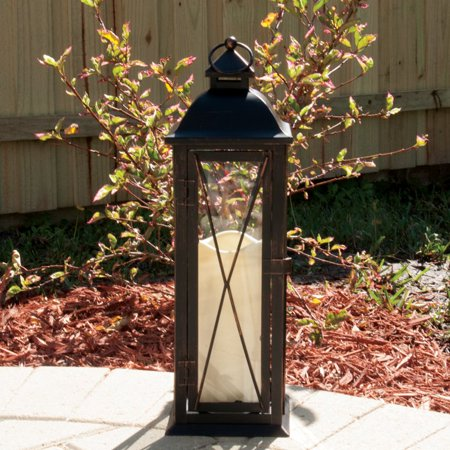 Smart Solar 84036 Lc 16  Antique Brown Siena Led Candle Lantern