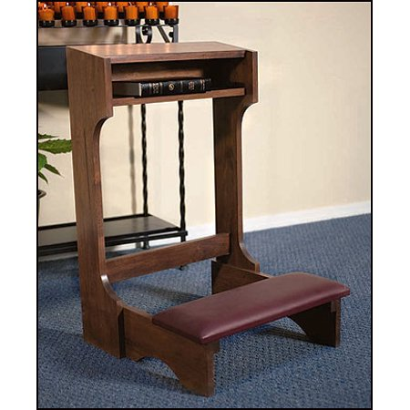 - Walnut Stained Maple Hardwood Padded Kneeler