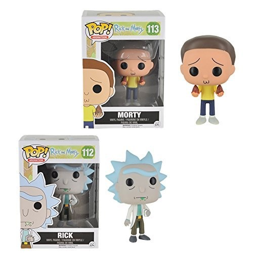 funko pop animation: rick & morty - rick - morty action figure bundle