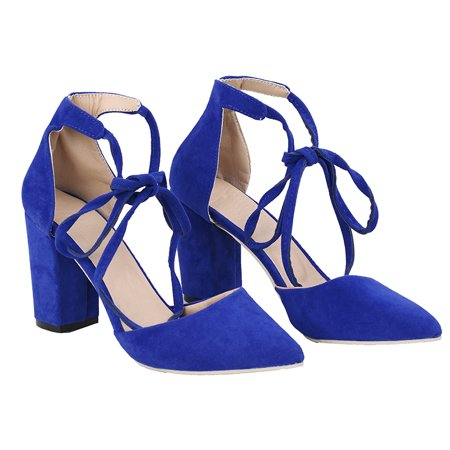 - 7 Colors Fashion Women Sexy High Heel Thick Heel Shoes