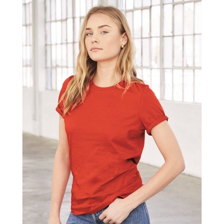 Bella + Canvas Women's Relaxed Short Sleeve Jersey Tee Bella Leather Coat