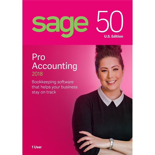Sage PRO2018RT 50 Pro Accounting Software 2018 U.S - 1 User
