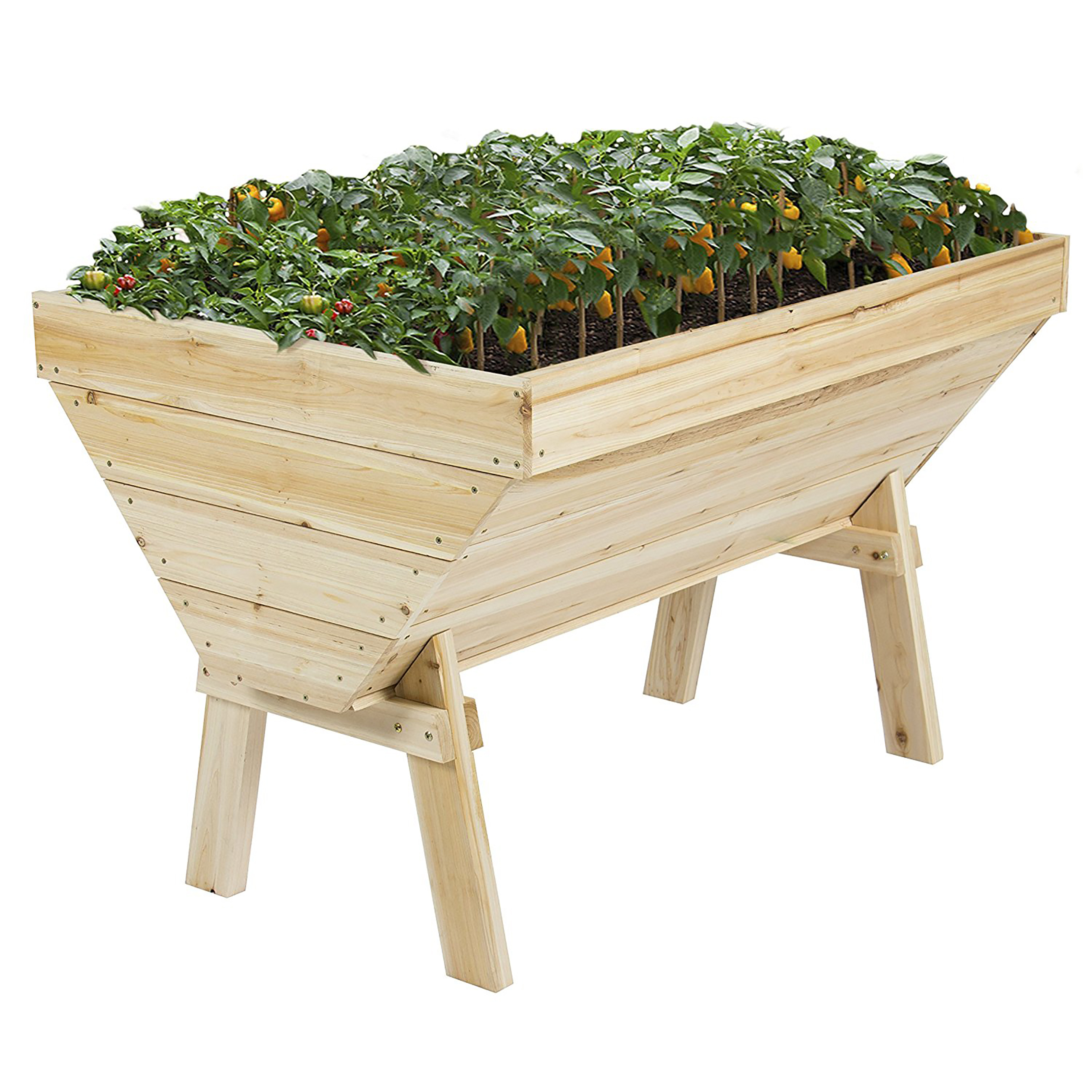 Best Choice Products 4x3ft Wooden Raised Vegetable Flower Bed Planter for Garden, Patio, Backyard - Natural