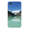 Apple Iphone Custom Case 4 4s Snap on - Lake Louise Alberta, Canada Landscape Scene Easy access to all buttons and ports