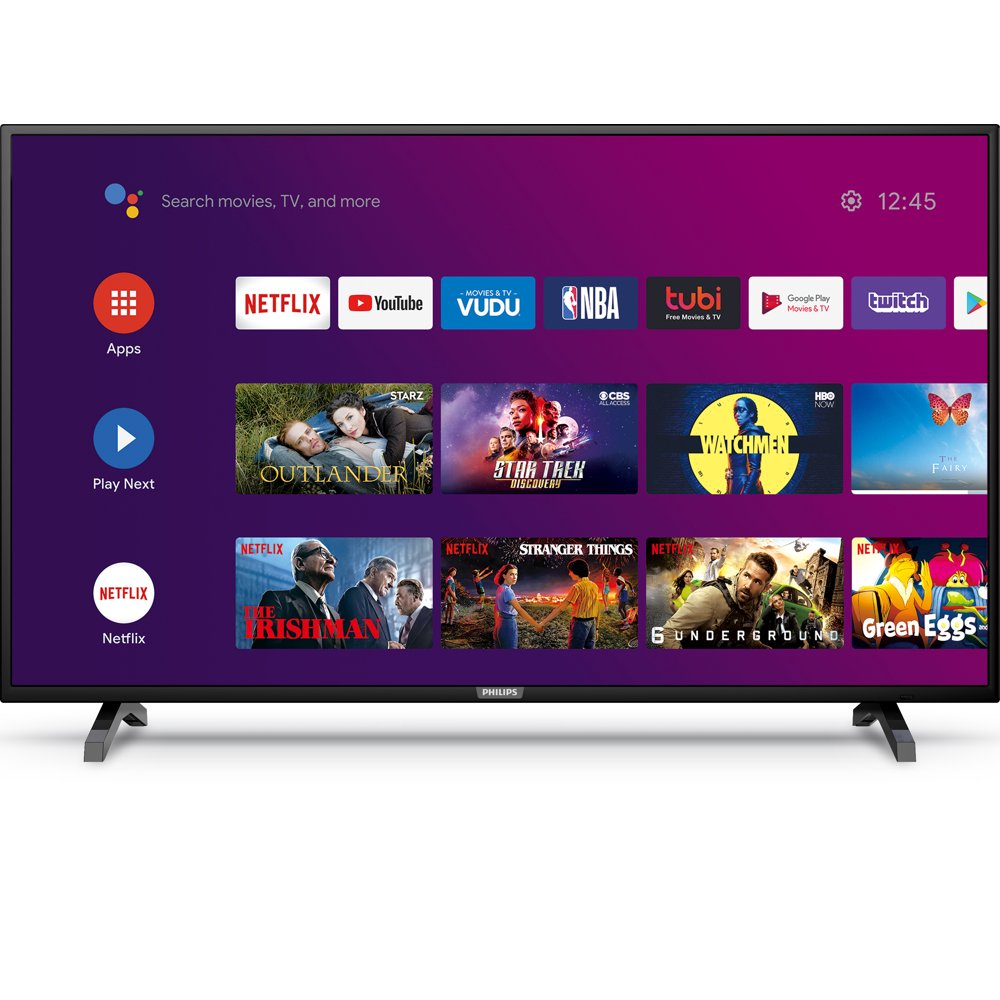 """Philips 43"""" Class 4K Ultra HD (2160p) Android Smart LED TV with Google Assistant (43PFL5604/F7)"""