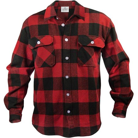 - Extra Heavyweight Brawny Flannel Shirt, Buffalo Plaid