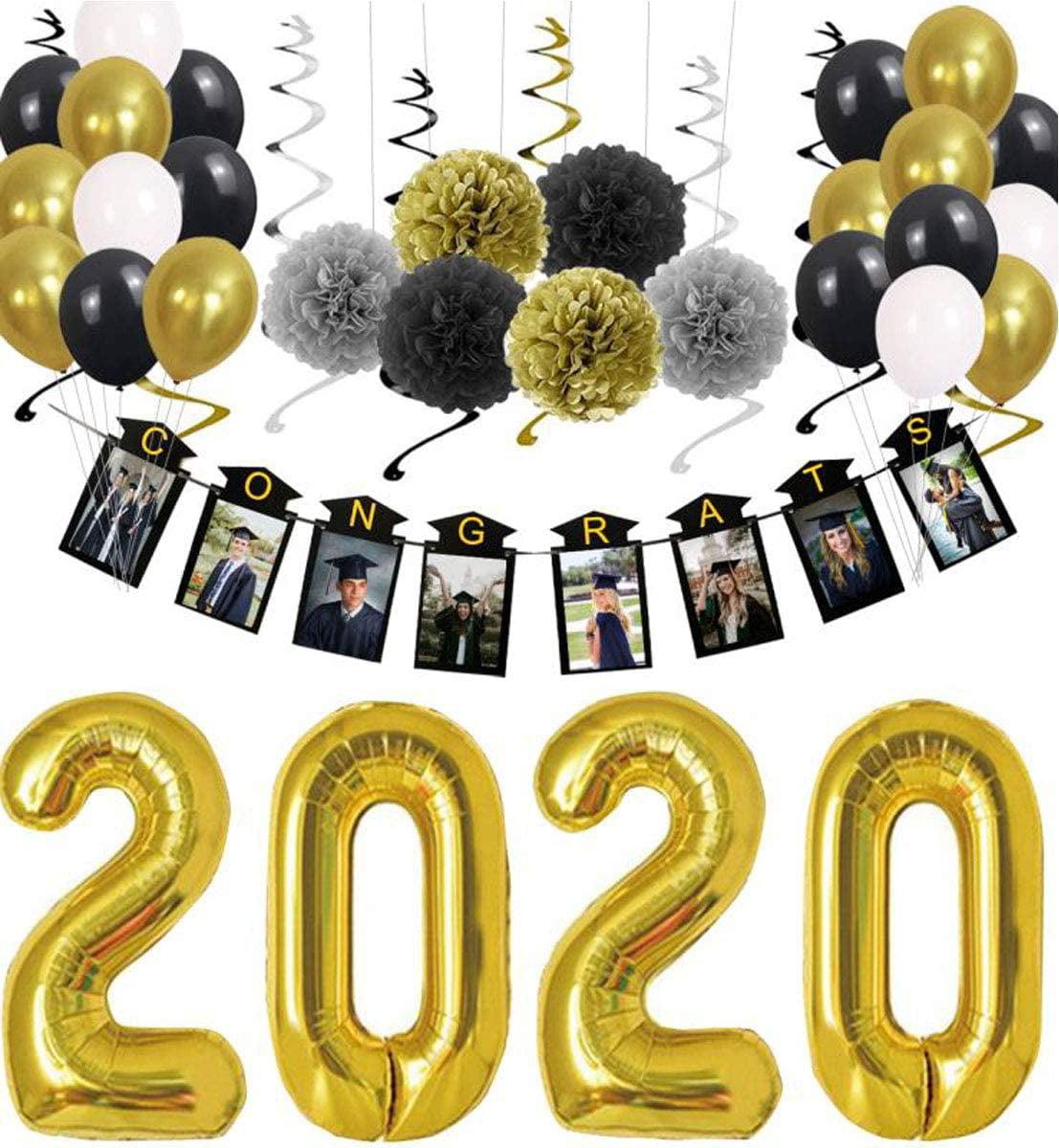 CLASS OF 2020 YELLOW GRADUATION party cake PAPER PLATES school colors 18pcs