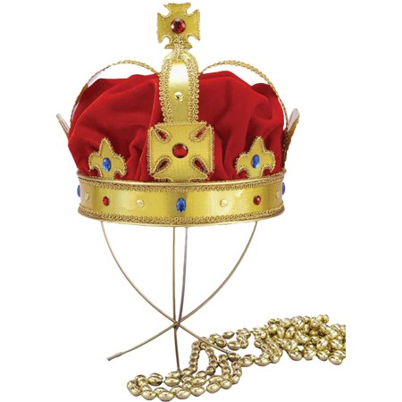 Morris costumes FM59048 Regal King Crown Adult
