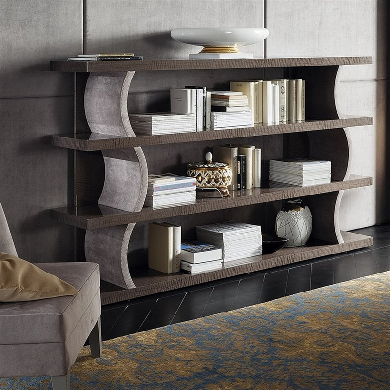 Rossetto Dune Visone 4 Shelf Bookcase in Beige by Rossetto