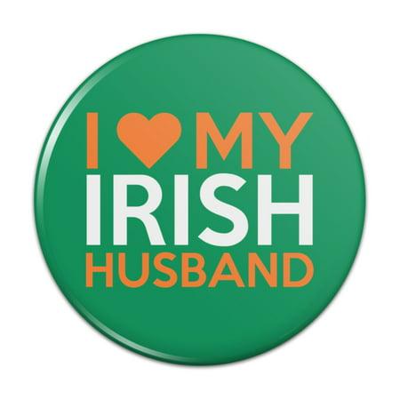 I Love My Irish Husband Pinback Button Pin Badge - 3