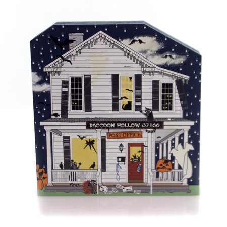 Cats Meow Village RACCOON HOLLOW POST OFFICE Wood 2017 Halloween 17631