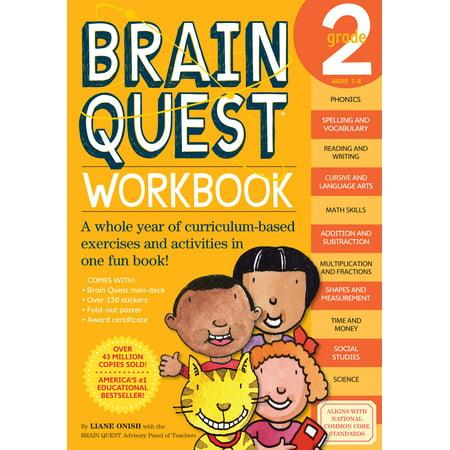 Brain Quest Workbook: Grade 2 [With Stickers] (Paperback) - Brain Quest Kindergarten