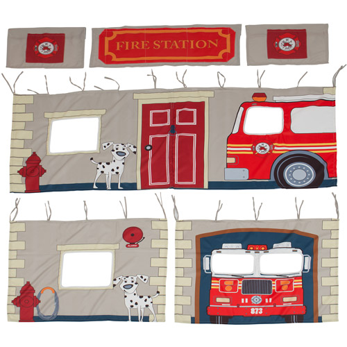 Fire Department Polyester Curtain Panel Set for Loft -Component
