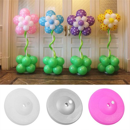 Hilitand 3 Colors Balloon Column Stand Kit Upright Balloon Plastic Column Base and PVC Pipe Holder with Connector for Birthday Party Wedding Party Event Decoration(White,1pc) for $<!---->