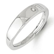 Sterling Silver White Ice .02ct. Diamond Ring. Comes in a lovely Gift Box