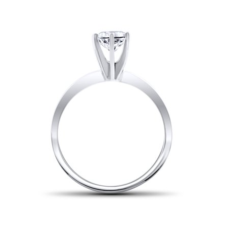 .90 ct Diamond Solitaire Engagement Ring 14k White Gold Round Brilliant Cut - image 2 de 2