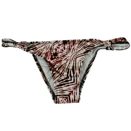 Volcom Womens Lost Se Animal Print Skimpy Swim Bottom Separates