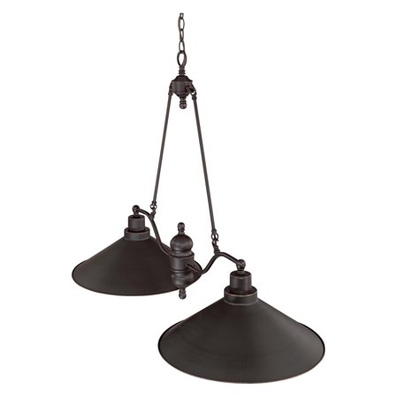 "Nuvo Lighting 61703 - 2 Light (Medium Screw Base) 40"" Bridgeview Mission Dust Bronze with Metal Shade Island Pendant Light Fixture (60-1703)"
