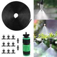 """DIY Misting System- EEEKit 33 ft Misters Cooling Outdoor System Irrigation Sprinkle,Drip Irrigation Kits Garden Irrigation Accessories,3/4"""" and 1/2"""" Faucet Connector DIY Plant Garden Hose Watering Kit"""