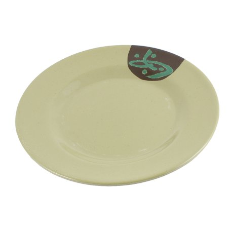 Unique Bargains Character Printed Food Serving Dish Plate Kitchenware Army Green 9 Inch Dia (Army Food Packs)
