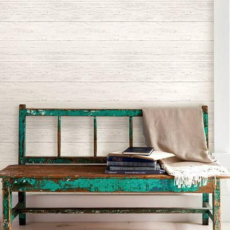 NuWallpaper™ Peel and Stick Wallpaper-Shiplap - Walmart.com
